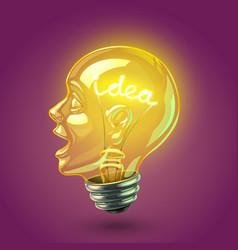 idea lightbulb vector image