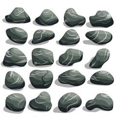 rock stone set vector image vector image
