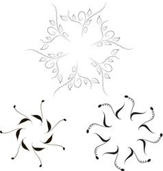 Simple Floral Frames vector image