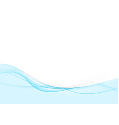 bright blue abstract swoosh wave stream line vector image vector image