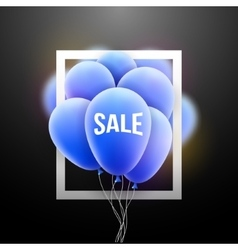 Sale balloons promotional poster frame vector image vector image