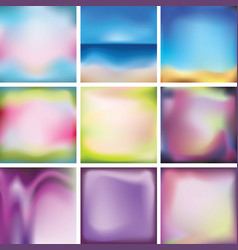 set of bright colored multi-colored backgrounds vector image