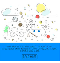 Sport or healthy lifestyle vector
