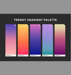 trendy gradient swatches vector image vector image