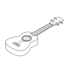 Acoustic bass guitar icon in outline style vector image vector image