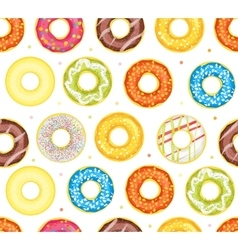 Donut Set Background Pattern vector image