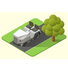 airport baggage truck vector image