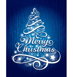 calligraphic christmas lettering vector image vector image