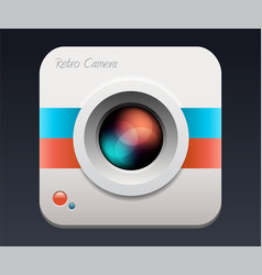 camera icon lens vector image