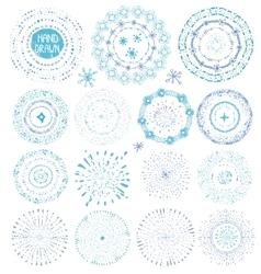 Hand drawing point texturesBurstwreathframe vector image vector image