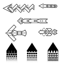 Line Art Arrows Set vector image vector image