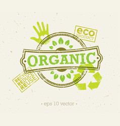 organic eco food creative rough design concept vector image