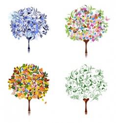 tree season vector image