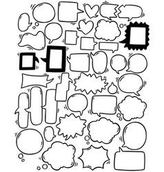 0084 hand drawn background set cute speech vector