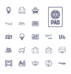 22 journey icons vector