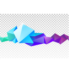 abstract faceted crystal banner 3d shape vector image