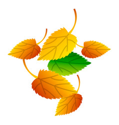 autumn leaves icon isometric style vector image
