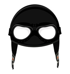 Aviator helmet vector