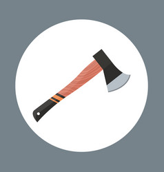 Axe icon working hand tool equipment concept vector