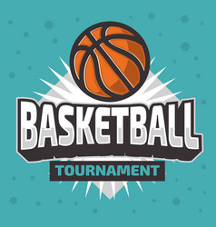 Basketball themed logo emblem design vector
