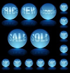 Blue Glass Spheres vector image