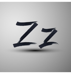 Calligraphic hand-drawn marker or ink letter z vector