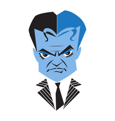 Caricature actor james cagney vector