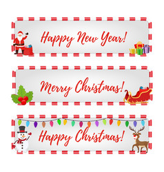 christmas banners for sale discounts vector image