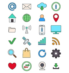 Color social media icons set vector image
