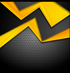 contrast yellow and black corporate design on dark vector image