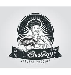 Cooking logo design template restaurant vector