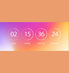 Counter timer with circle days hours minutes vector