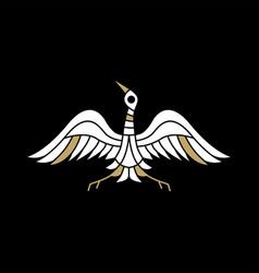 crane bird logo icon vector image