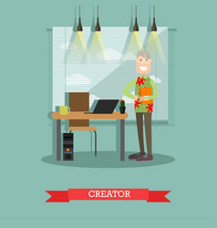 Creator concept in flat style vector
