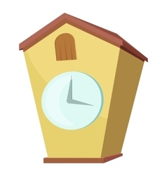 Cuckoo clock icon cartoon style vector