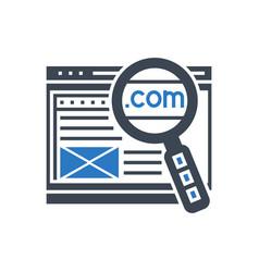 domain glyph icon vector image