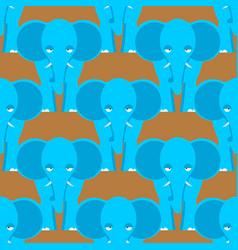 elephant seamless pattern african wild beast vector image