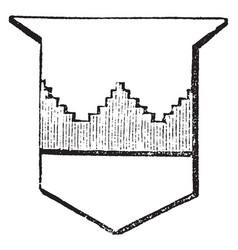 Fess embattled grady is a battlements gradually vector