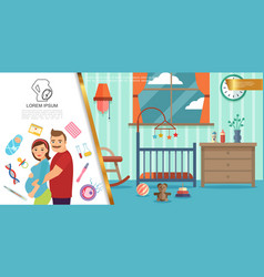 flat colorful pregnancy concept vector image