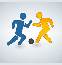 football or soccer game with players icon vector image