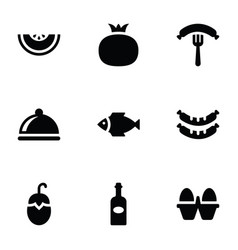 fruit food and vegetable icons vector image