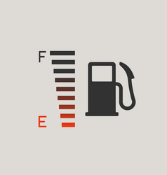 fuel gauge icon vector image