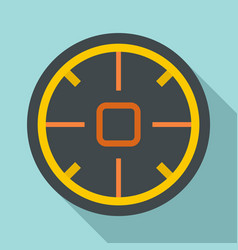 futuristic aim scope icon flat style vector image