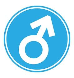 Gender male symbol button vector image vector image