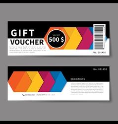 gift voucher discount template flat design vector image