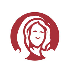 girl in a red hood silhouette sign vector image