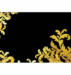 Gold floral pattern vector