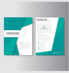 Green polygon brochure flyer leaflet report vector