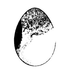 Grunge isoalted egg vector
