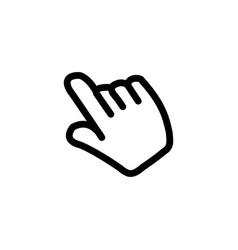hand icon in flat style for app ui websites black vector image